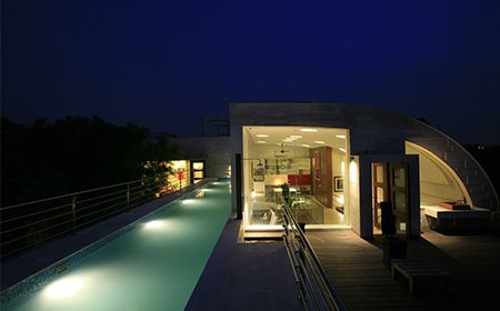 Architects house and studio New Delhi by Morpogenesis