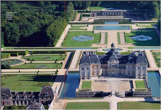1.Vaux le Vicomte , where walkers could lose track of time in a pleasant setting. 1958-61, 100 acres [4]